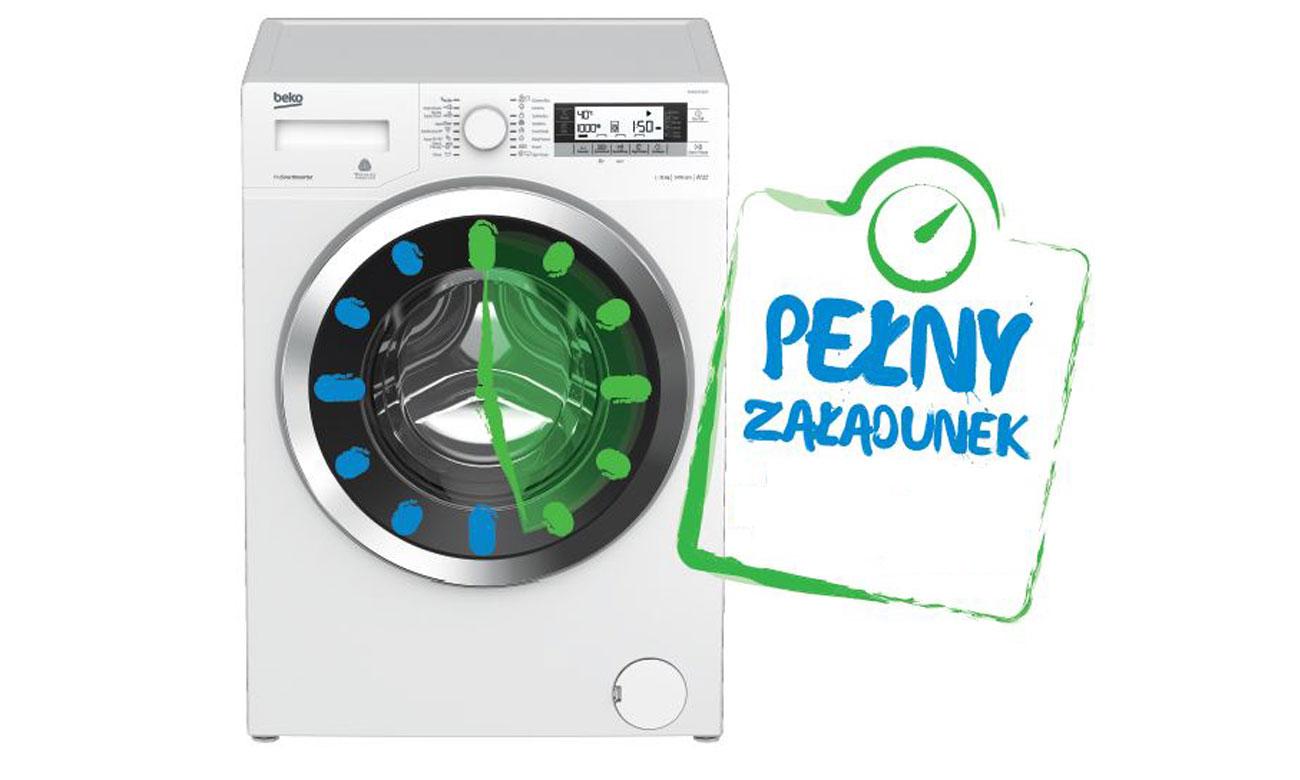 Oszczędność wody i energii, dzięki programowi Mini 30 w pralce Beko WRE5511BWW