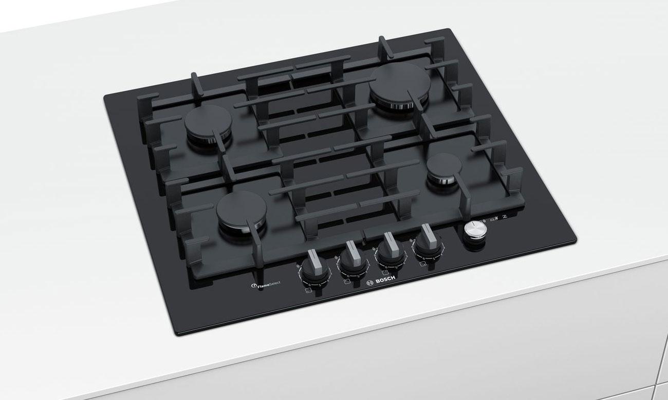 Główny wyłącznik w płycie gazowej Bosch PPP6A6M90
