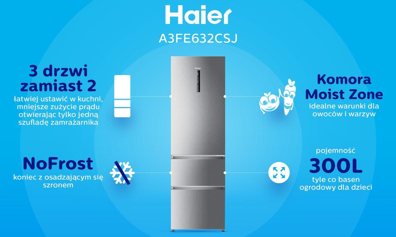 No Frost w lodówce Haier A3FE632CSJ