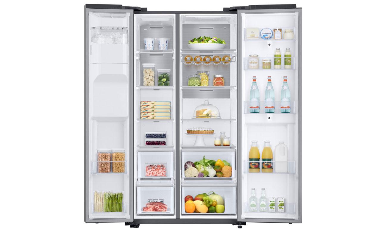 Duża pojemność w lodówce Samsung RS68N8941SL