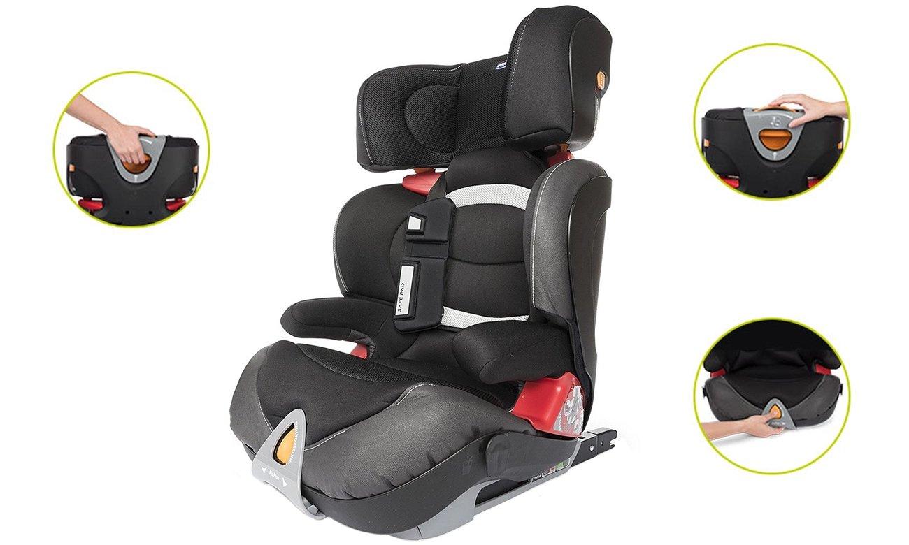 montaż fotelika Chicco OASYS 2-3 EVO dla dzieci od 15-36 kg