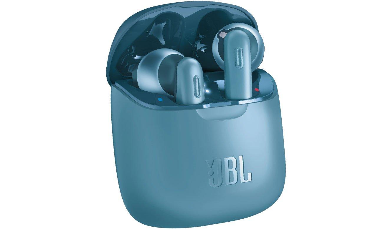 Słuchawki bezprzewodowe JBL Tune T220TWS niebieskie