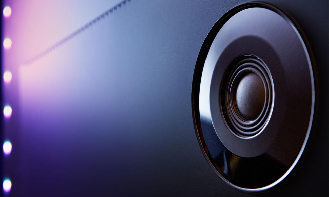 Czysty dźwięk w telewizorze Philips 65PUS7101