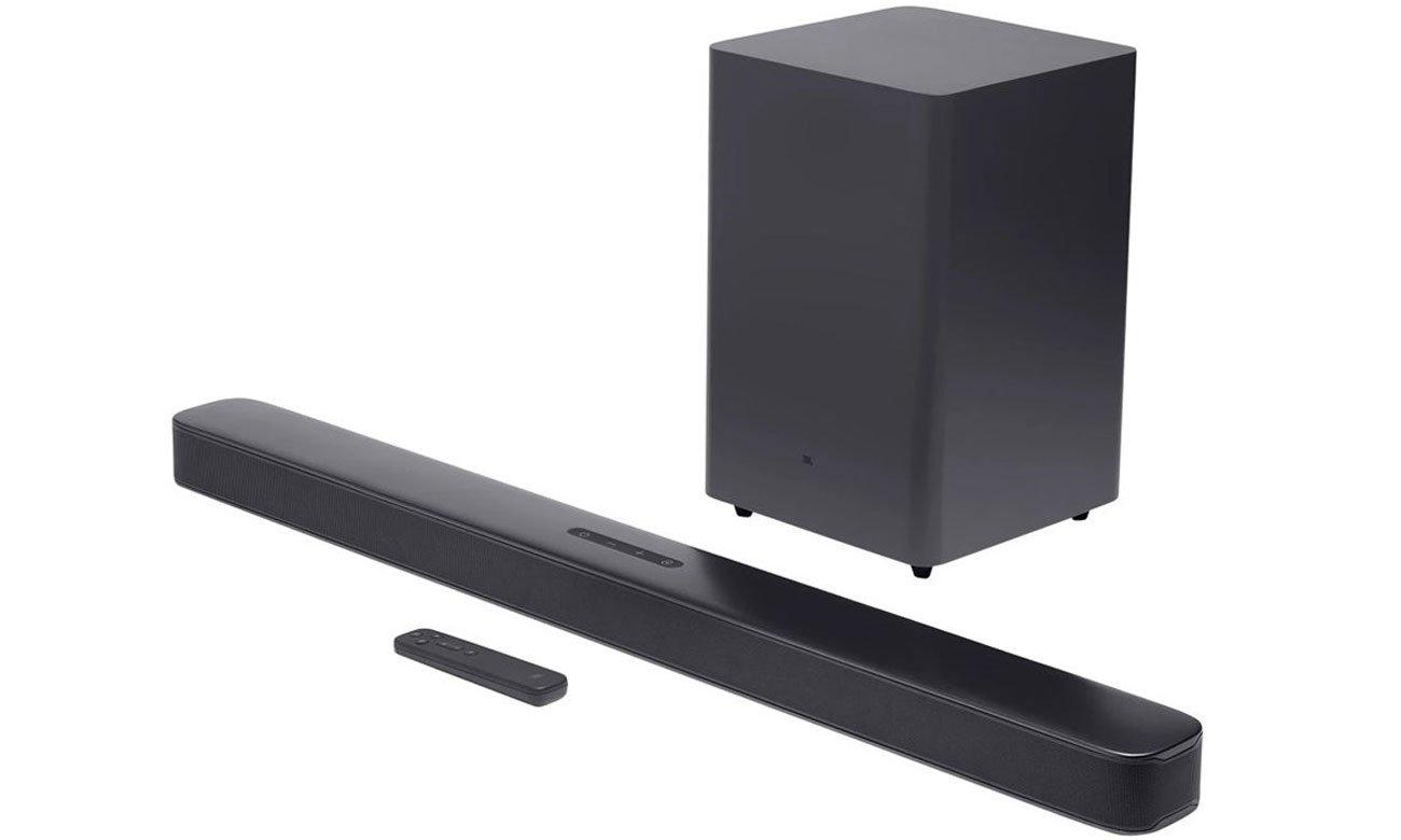 Czarna listwa głośnikowa do tv 2.1 JBL BAR 2.1 Deep Bass