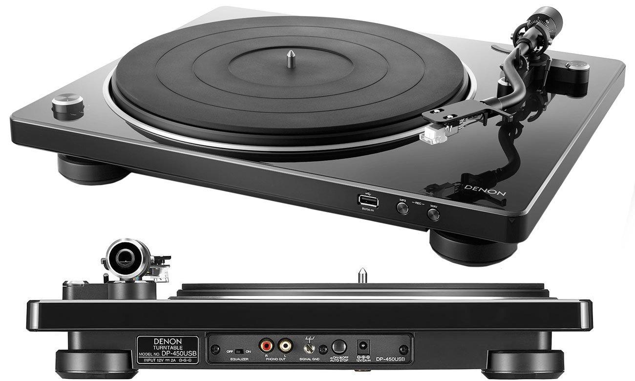 Gramofon Denon DP-450USB black