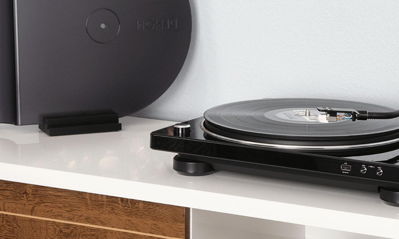Gramofon Denon DP-450USB z funkcją przegrywania utworów