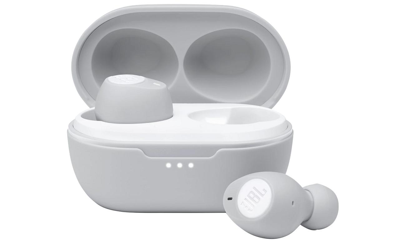 Małe słuchawki bezprzewodowe JBL Tune 115TWS białe