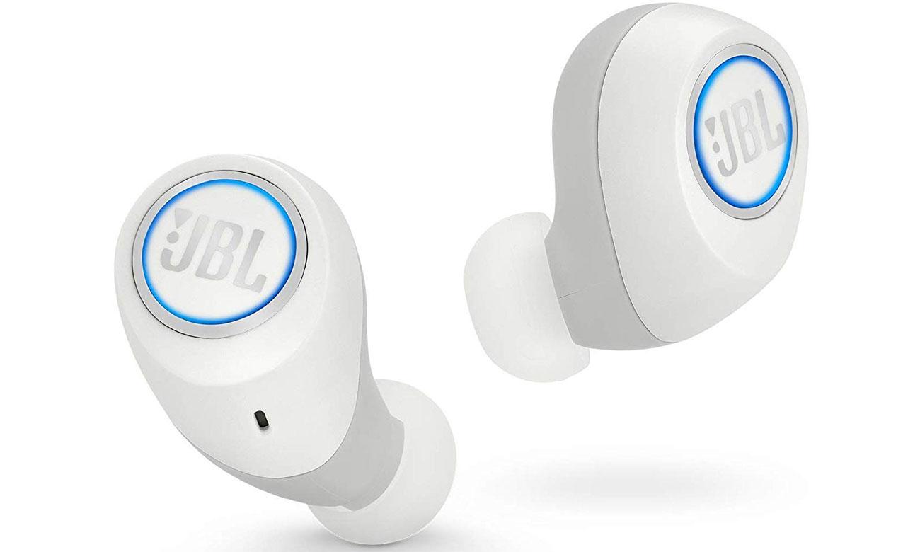 Małe słuchawki bezprzewodowe JBL Free białe