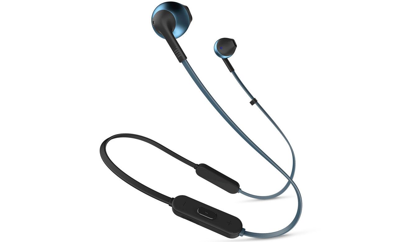 Słuchawki bezprzewodowe JBL T205 BT BLU niebieskie