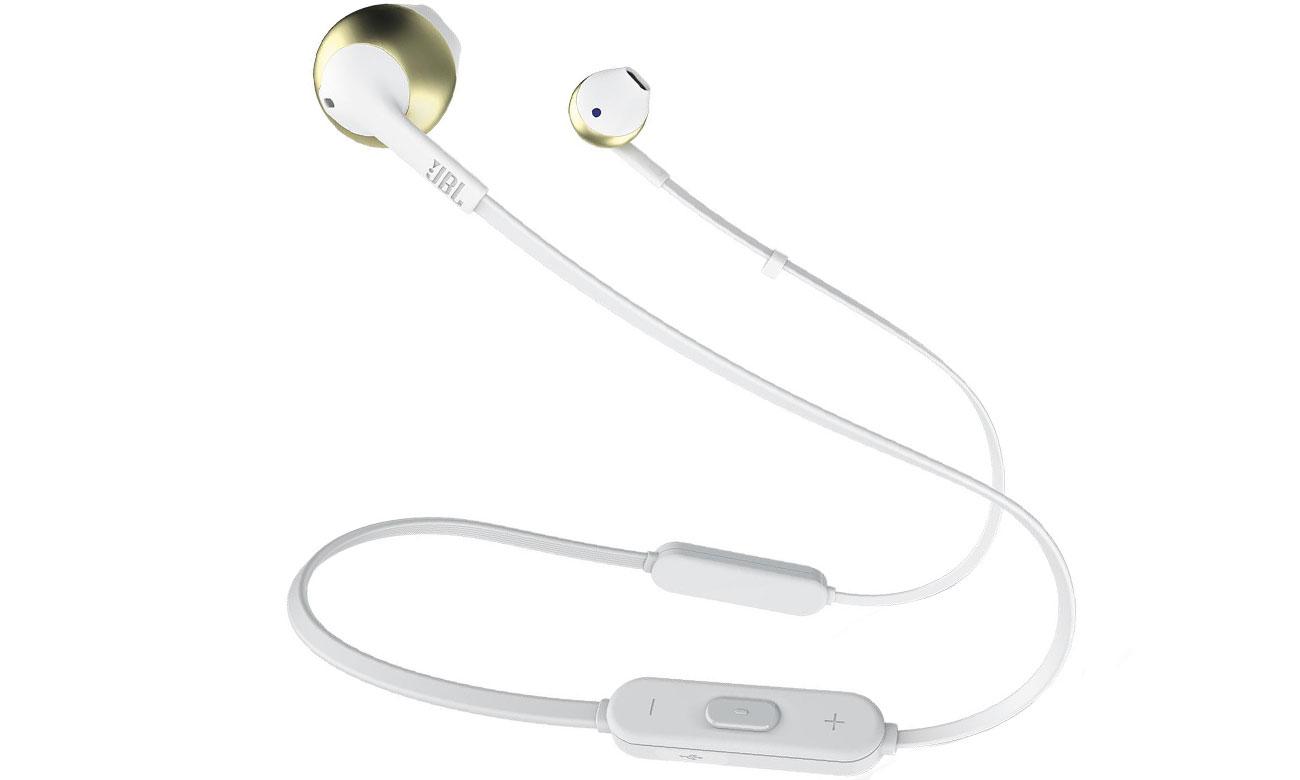 Słuchawki bezprzewodowe JBL T205 BT BLU złote