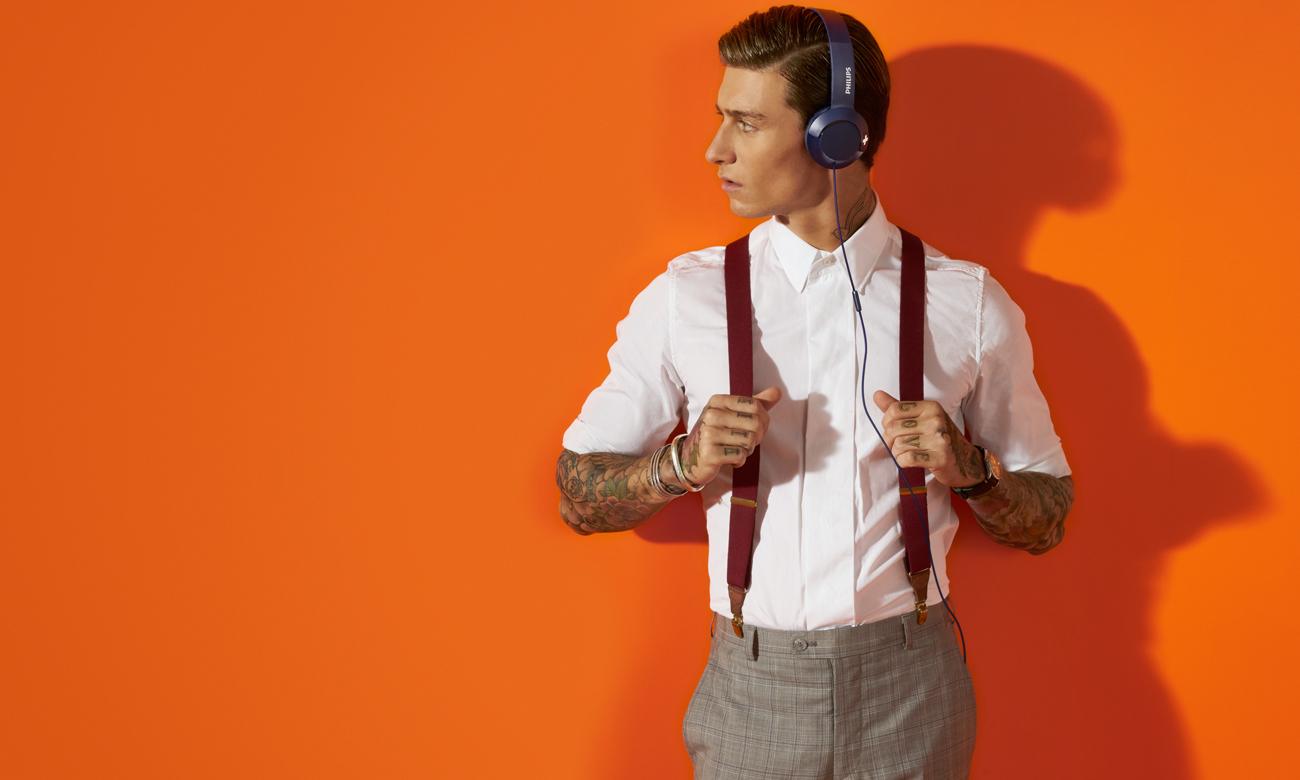 Nauszne słuchawki z mikrofonem Philips SHL3075BL