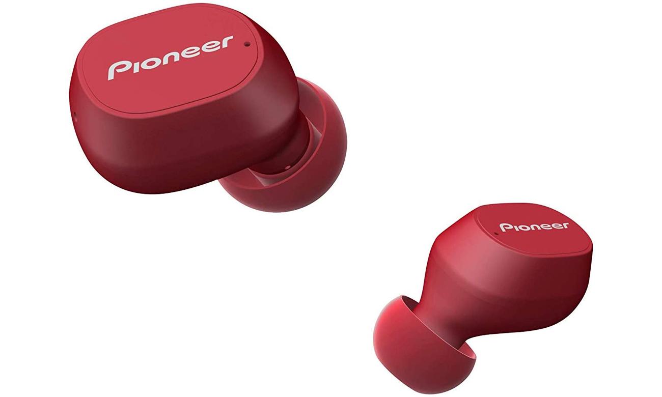 Dokanałowe słuchawki bezprzewodowe Pioneer SE-C5TW czerwone