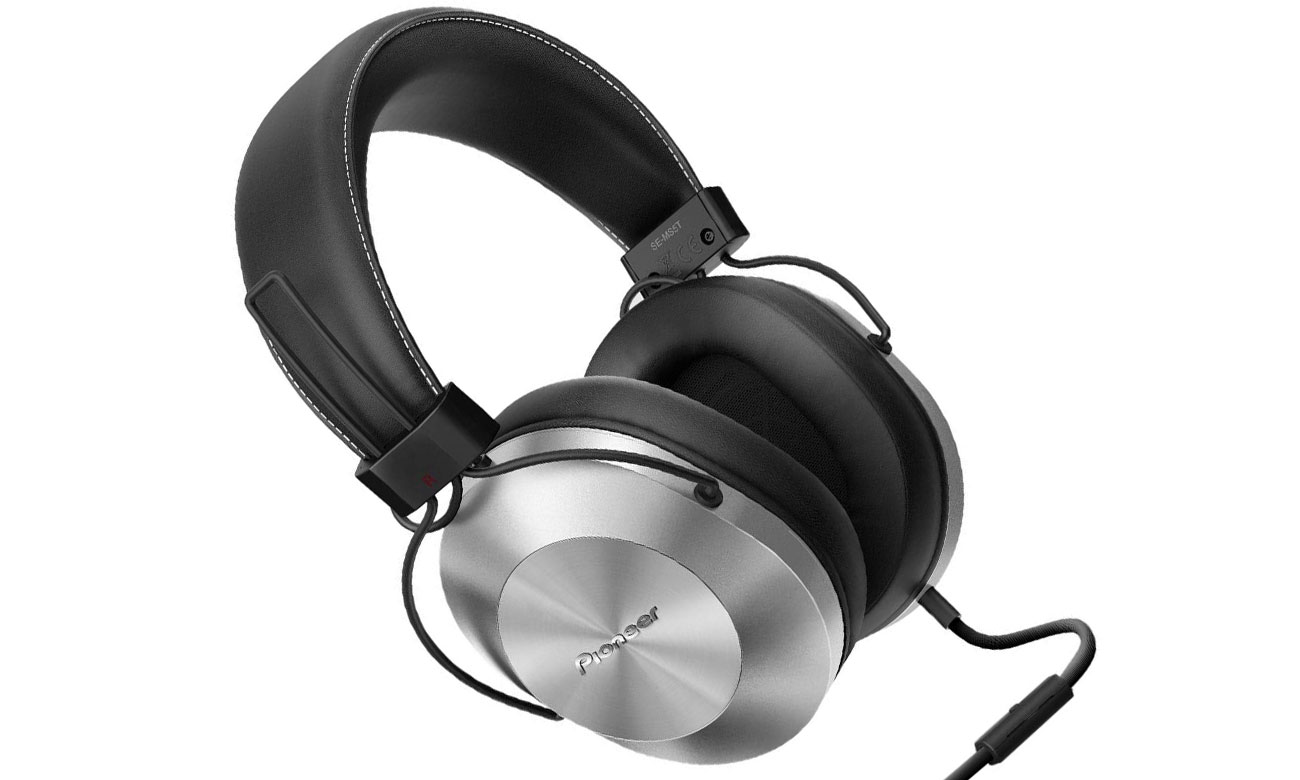 Słuchawki wokółuszne Pioneer SE-MS5T-S srebrne