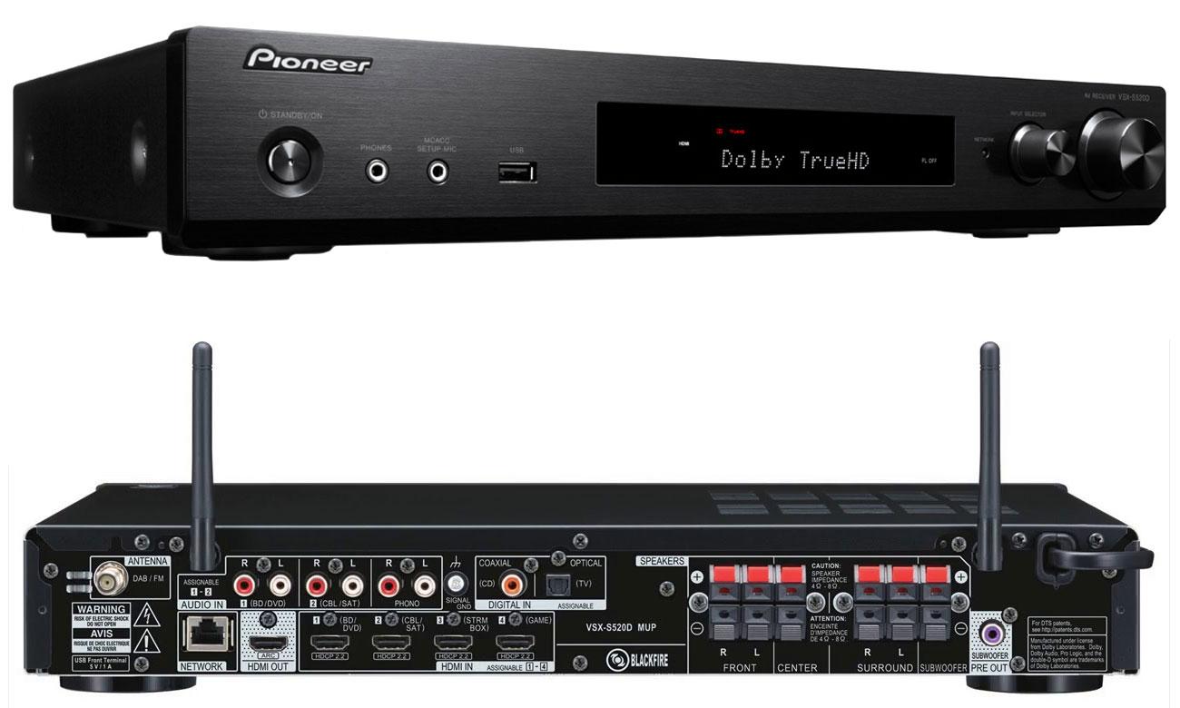 Amplituner Pioneer VSX-S520D czarny