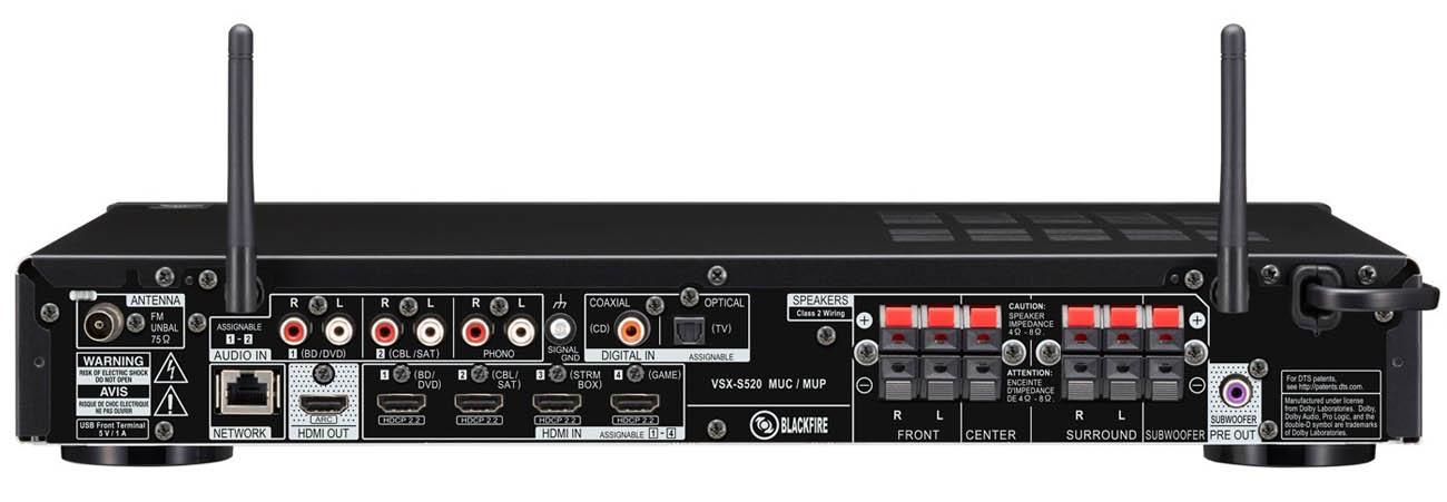 Amplituner Pioneer VSX-S520 srebrny
