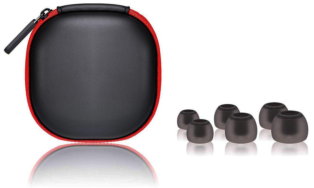 Silikonowe końcówki i etui do SoundMagic E11D Black