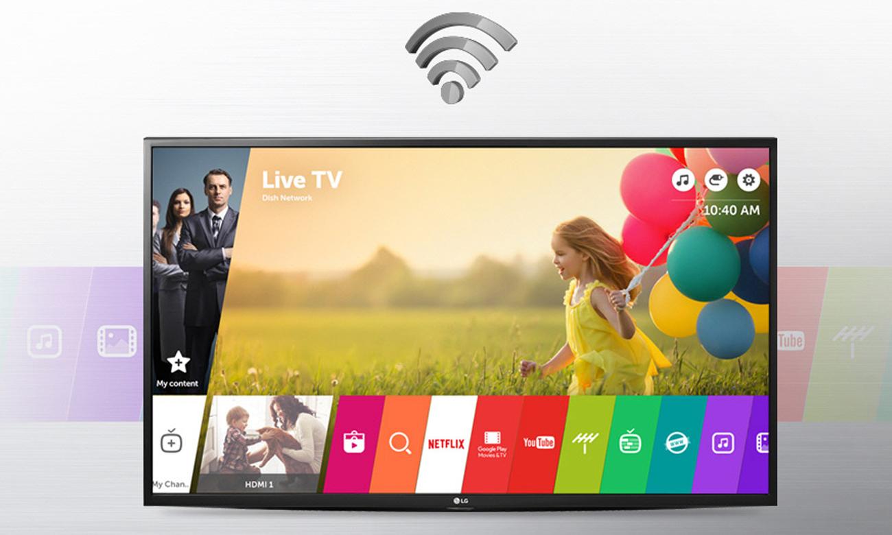 Łączność Wi-Fi w telewizorze LG 43UH603V