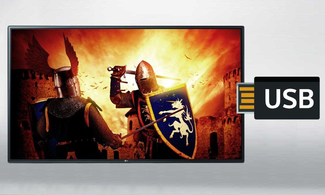 Złącze USB w telewizorze LG 32 calowym LH530V
