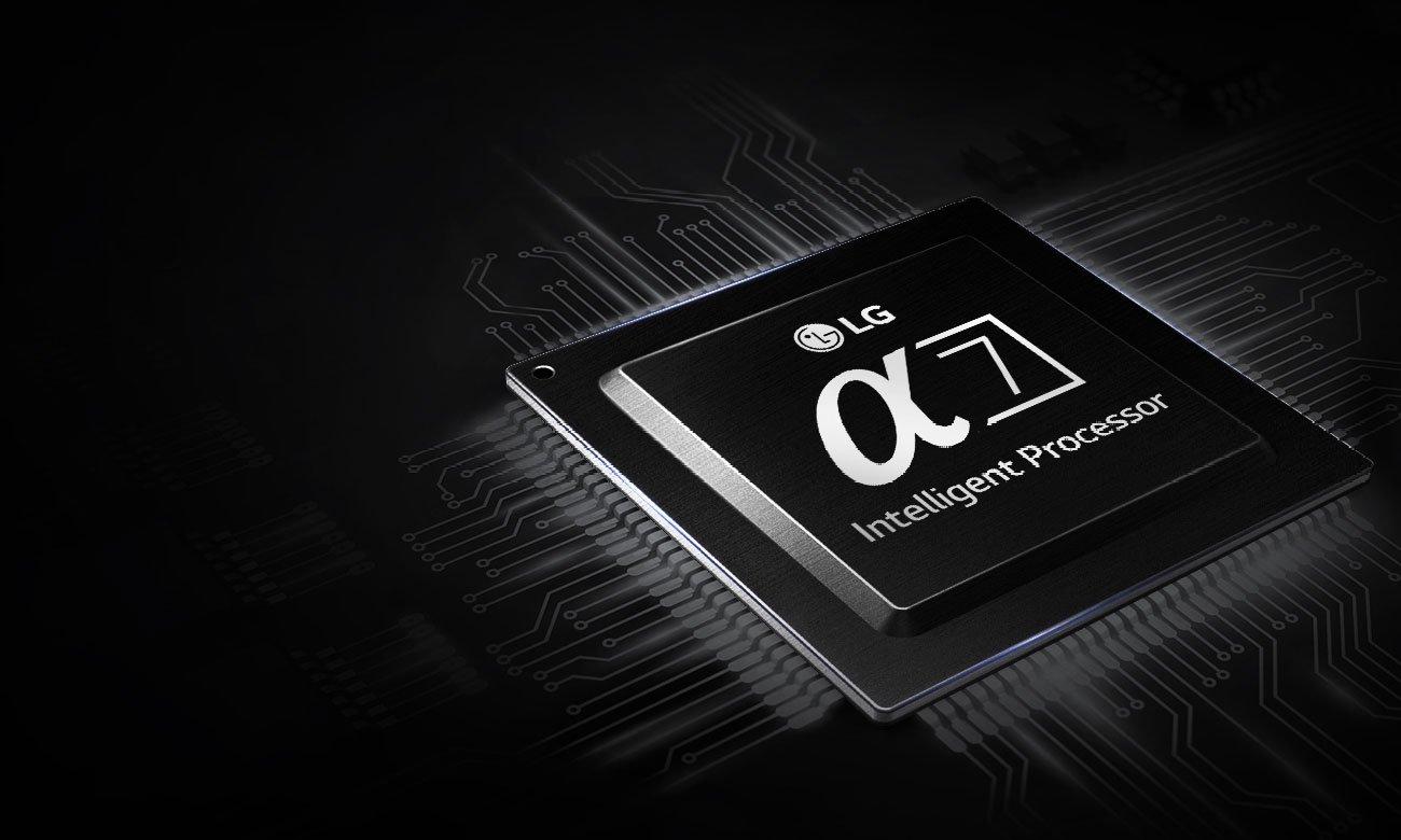 Wydajny procesor alpha7 w telewizorze LG OLED65B8