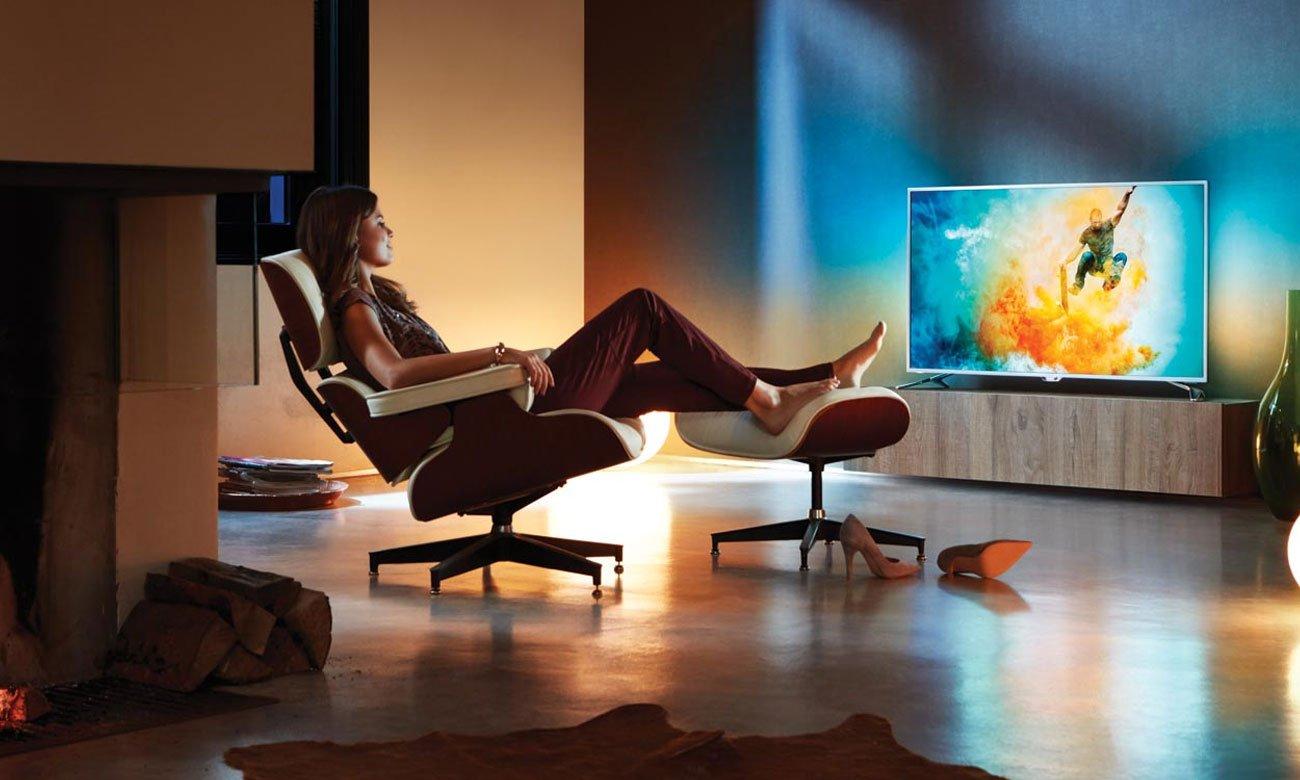 Telewizor z Chromecast i sterowaniem głosowym Philips 55PUS7303
