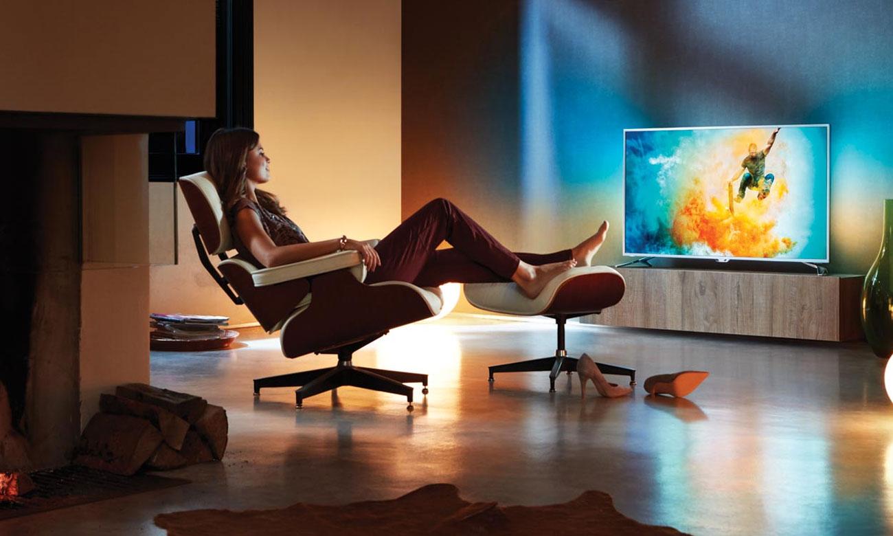 Telewizor z Chromecast i sterowaniem głosowym Philips 65PUS7303