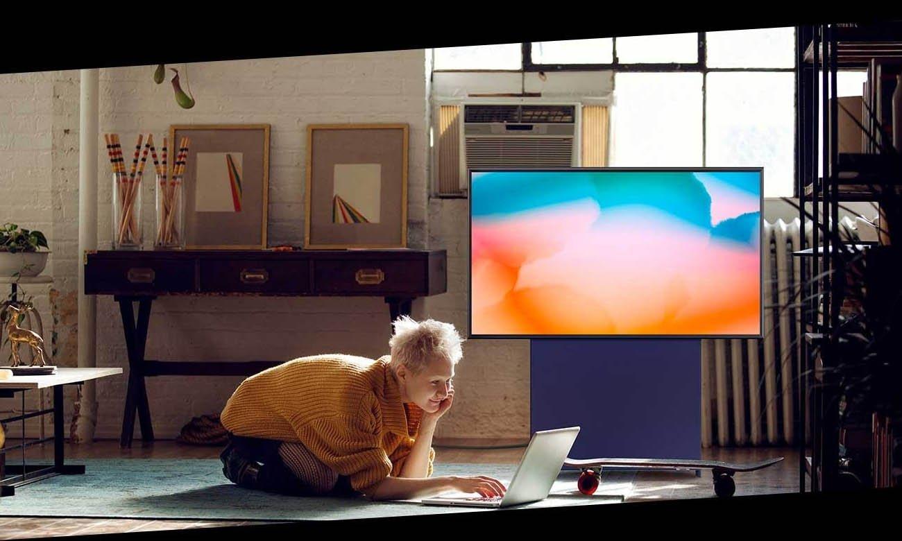 Tryb Ambient+ Samsung QE43LS05T opinie