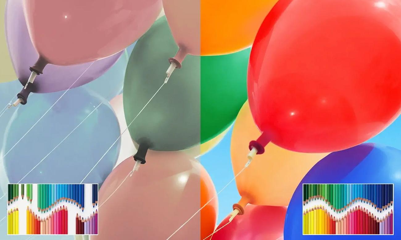 Idealne odwzorowanie kolorów na ekranie Sony KE-55XH8096