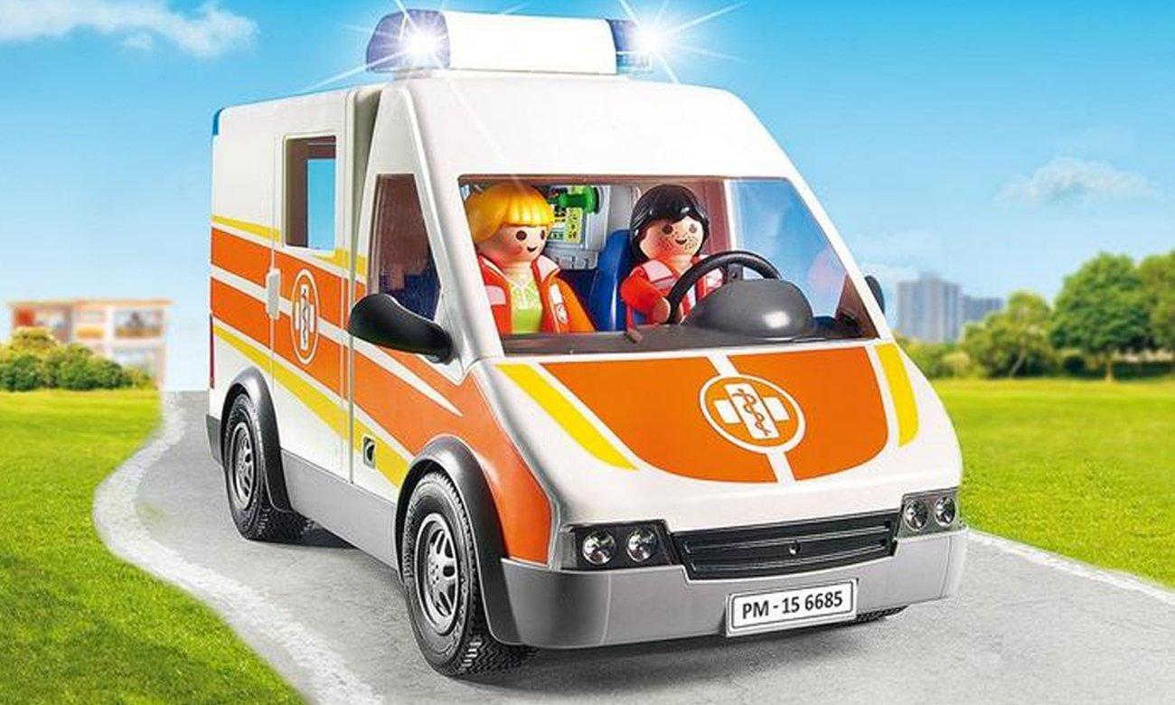 Playmobil Karetka ze światłem i dźwiękiem 6685