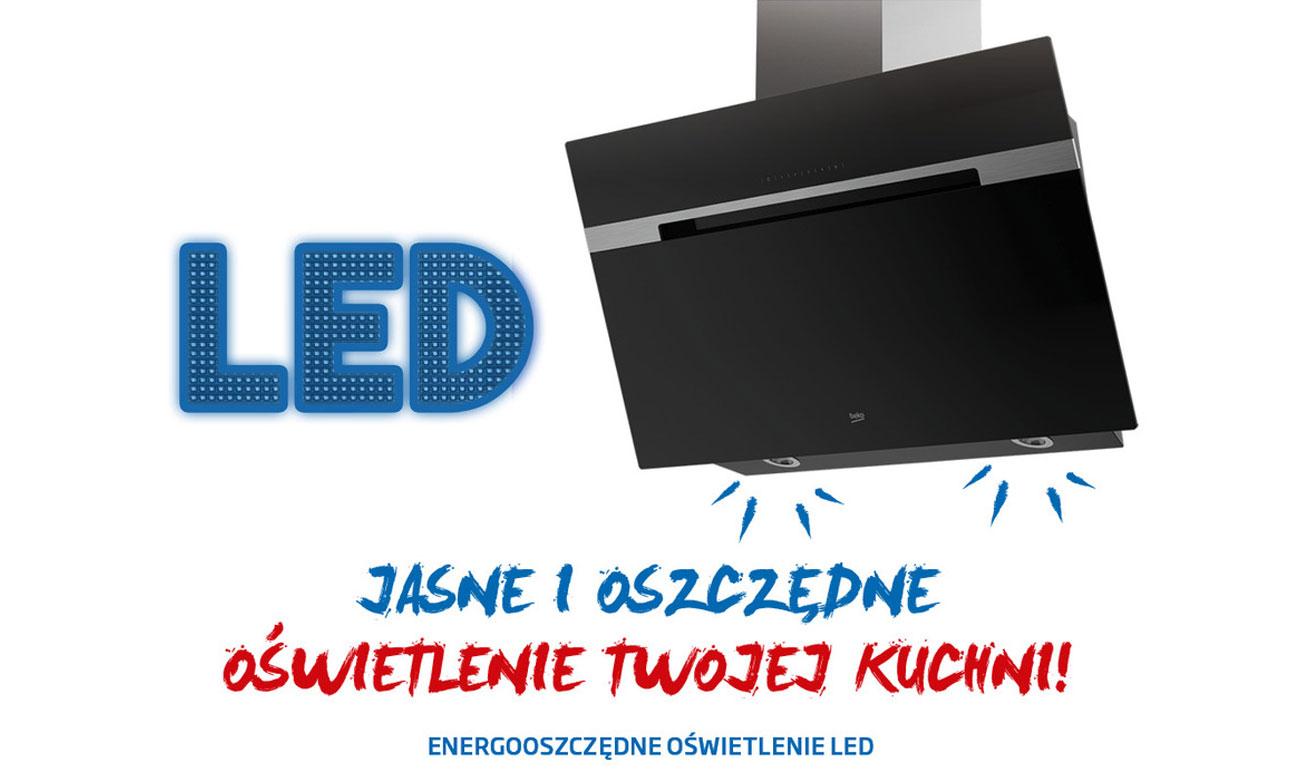 Oświetlenie LED w okapie Beko HCA62540B