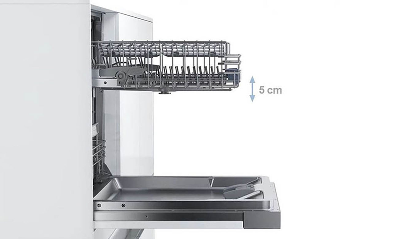 Regulacja kosza w zmywarce Bosch SMS46JI04E