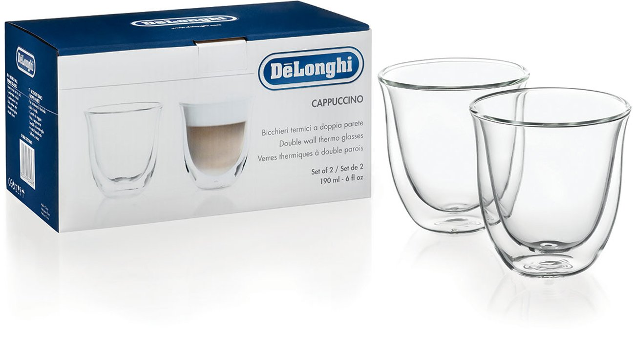 Szklanki do cappuccino DeLonghi DBWALLCAPP