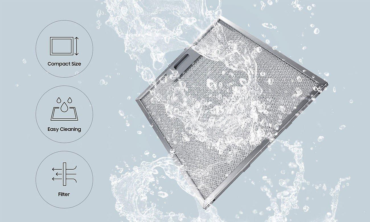 Aluminiowy filtr przeciwtłuszczowy w okapie Samsung NK36M5060SS