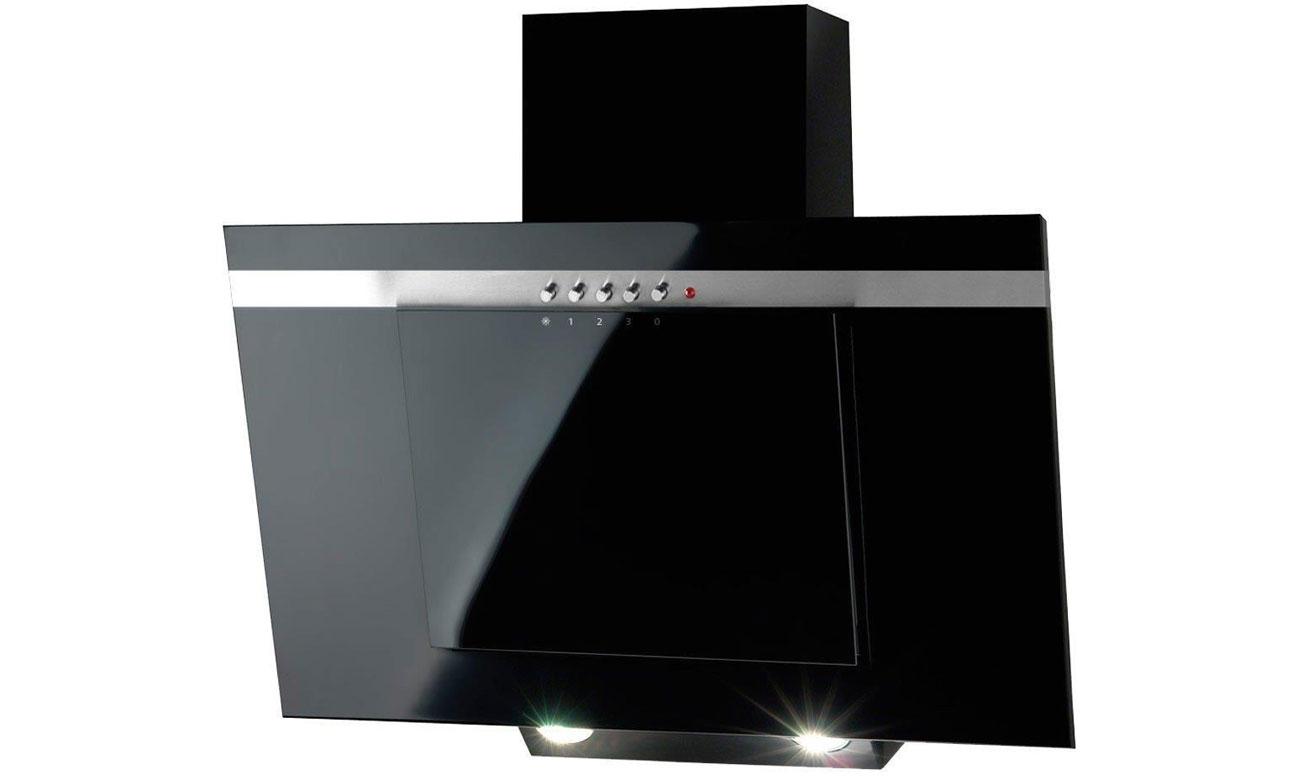 Okap z filtrem odtłuszczającym Akpo WK-4 Nero Line60 Eco Czarny