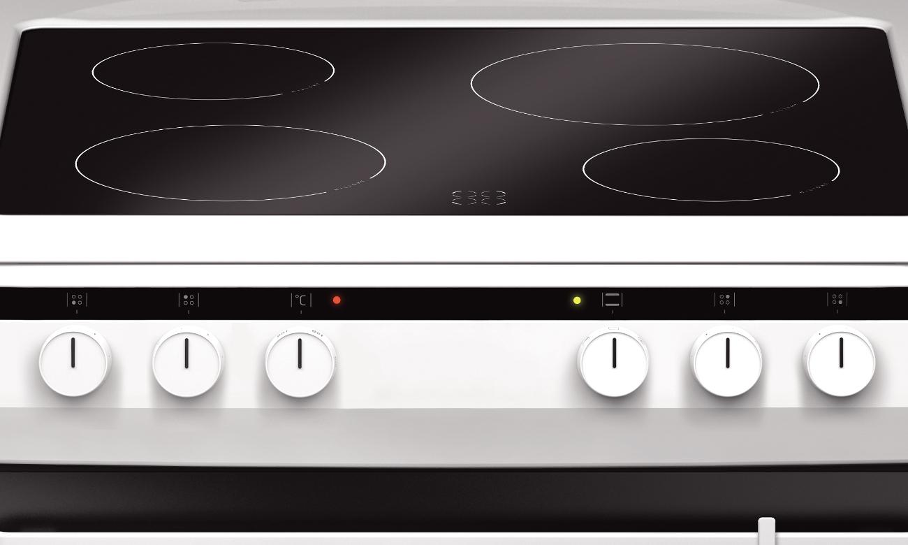pola grzejne HiLight kuchenki Amica Linia 600 618CE3.333HQ(W) biała ceramiczna 60cm