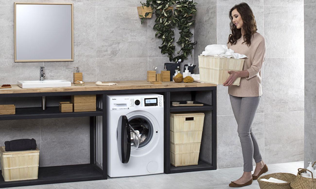 Efektywne pranie, dzięki funkcji MaxLoad w pralce Amica DAW8143DSiBTO