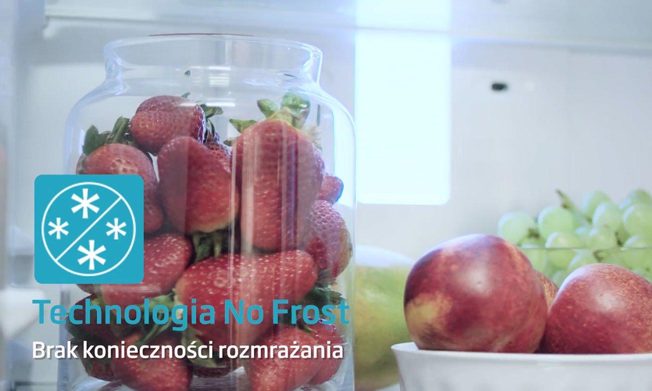 Lodówka AMICA FK338.6GBF posiada system nofrost