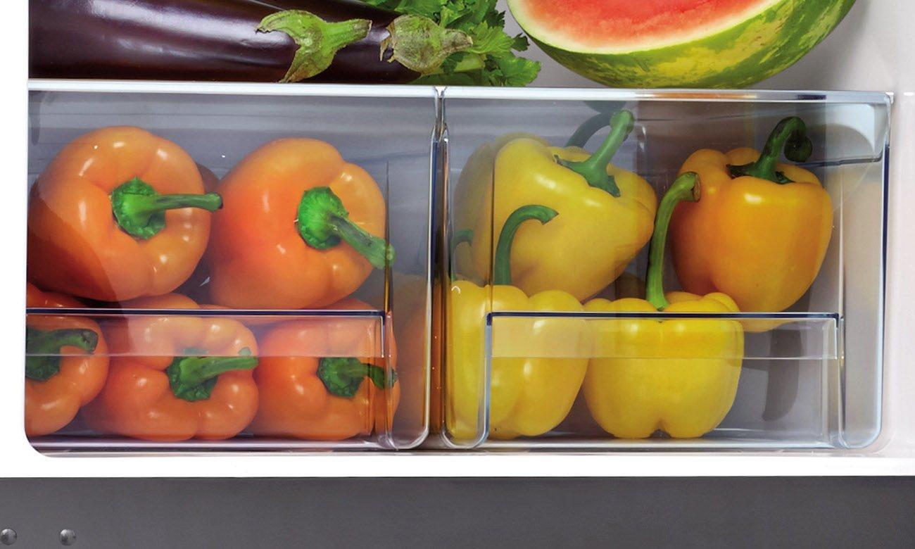 Lodówka AMICA FK338.6GBF pomieści te warzywa