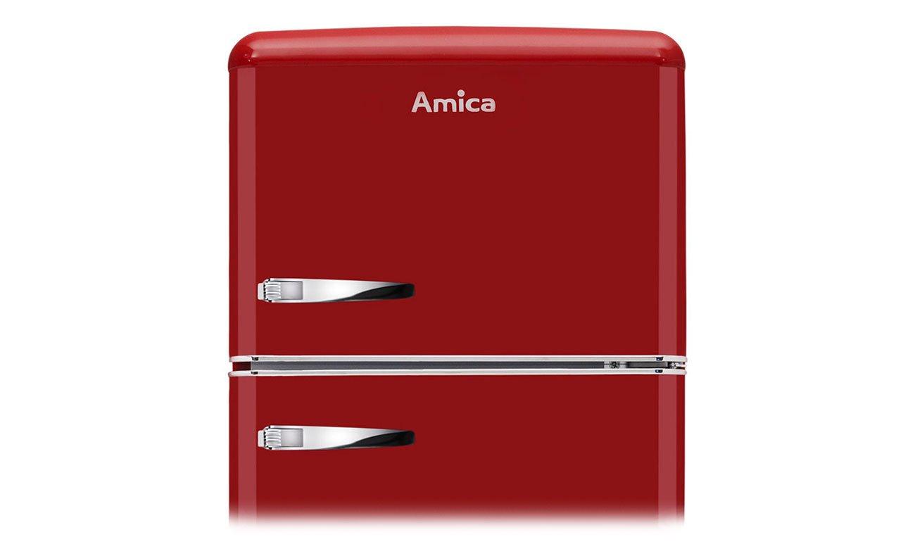 Chłodziarko-zamrażarka Amica KGC15630R RETRO