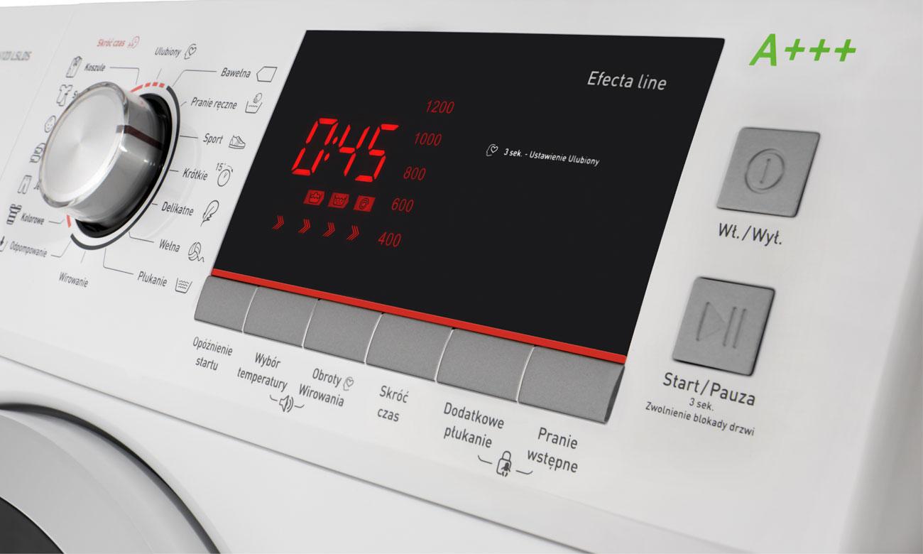 Wyświetlacz LED w pralce Amica TAWE 6123 LSLDS