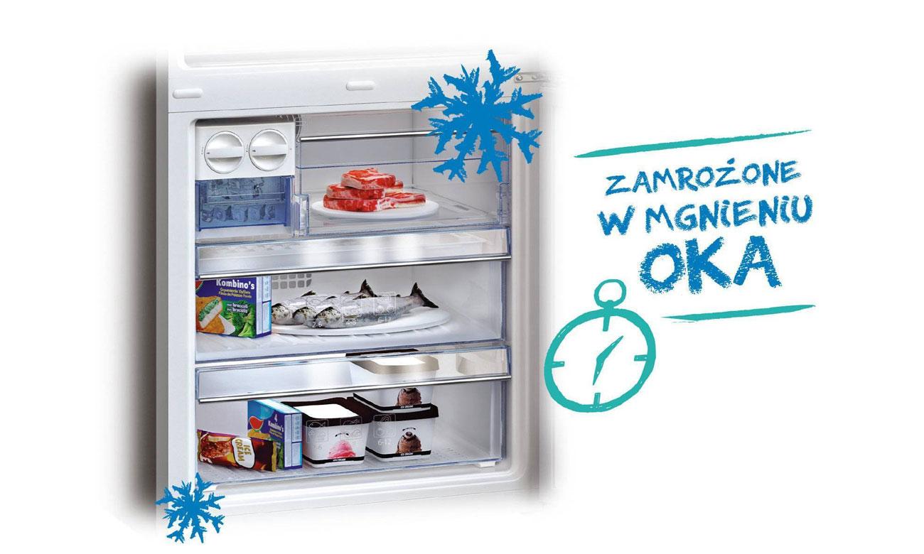 Szybkie mrożenie w lodówce Beko CNA400EC0ZW