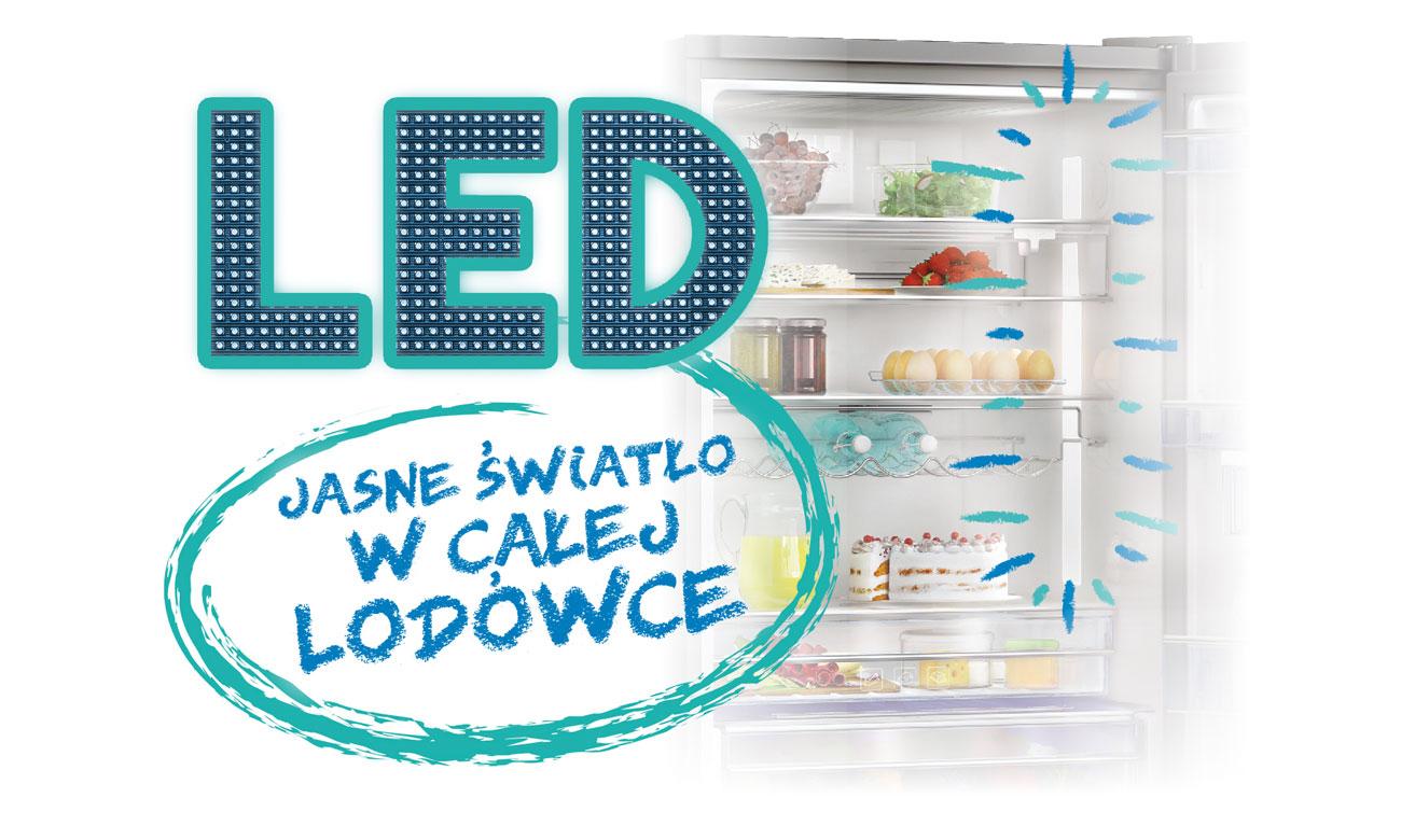 Oświetlenie LED w lodówce Beko DSA240K21W