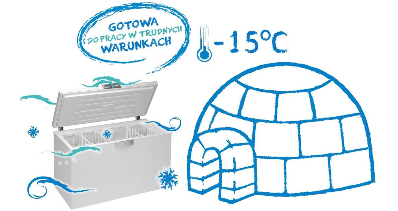 Beko FSE1072 pracuje w niskich temperaturach