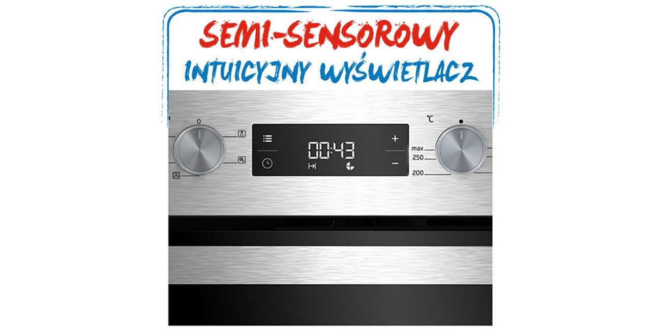 Kuchnia Beko FSE52320DXD posiada intuicyjny wyświetlacz