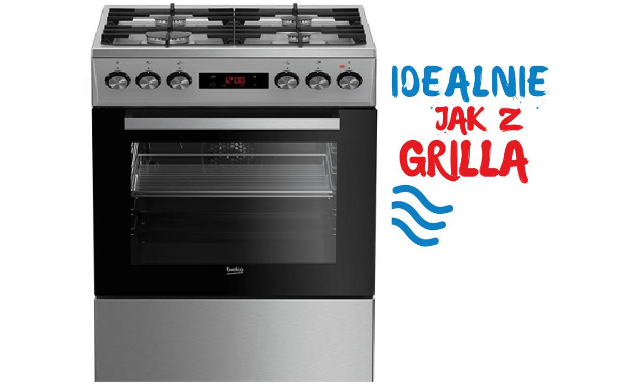 Funkcja Grilla w kuchence gazowo-elektrycznej Beko FSM52332DXDS