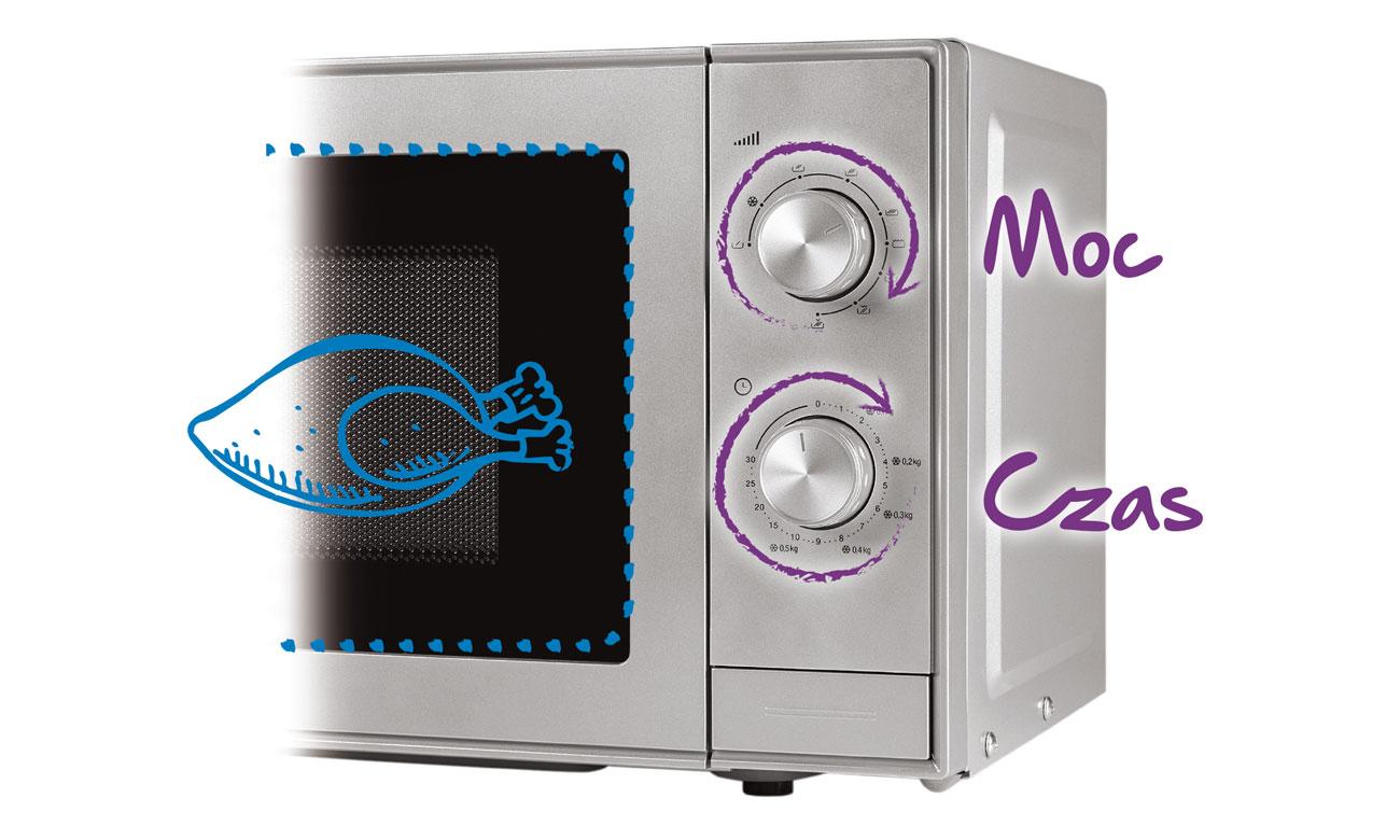 Łatwe sterowanie w kuchence mikrofalowej Beko MOC20100S