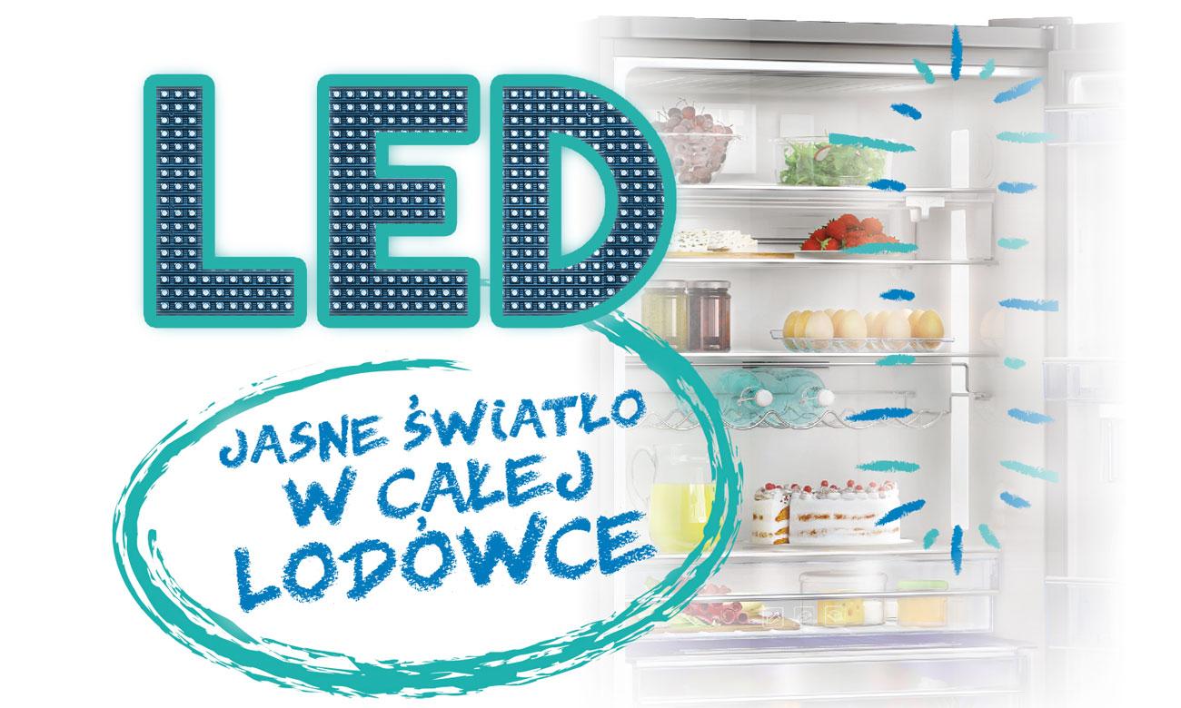 Wydajne oświetlenie LED w lodówce Beko RCNA305K20W