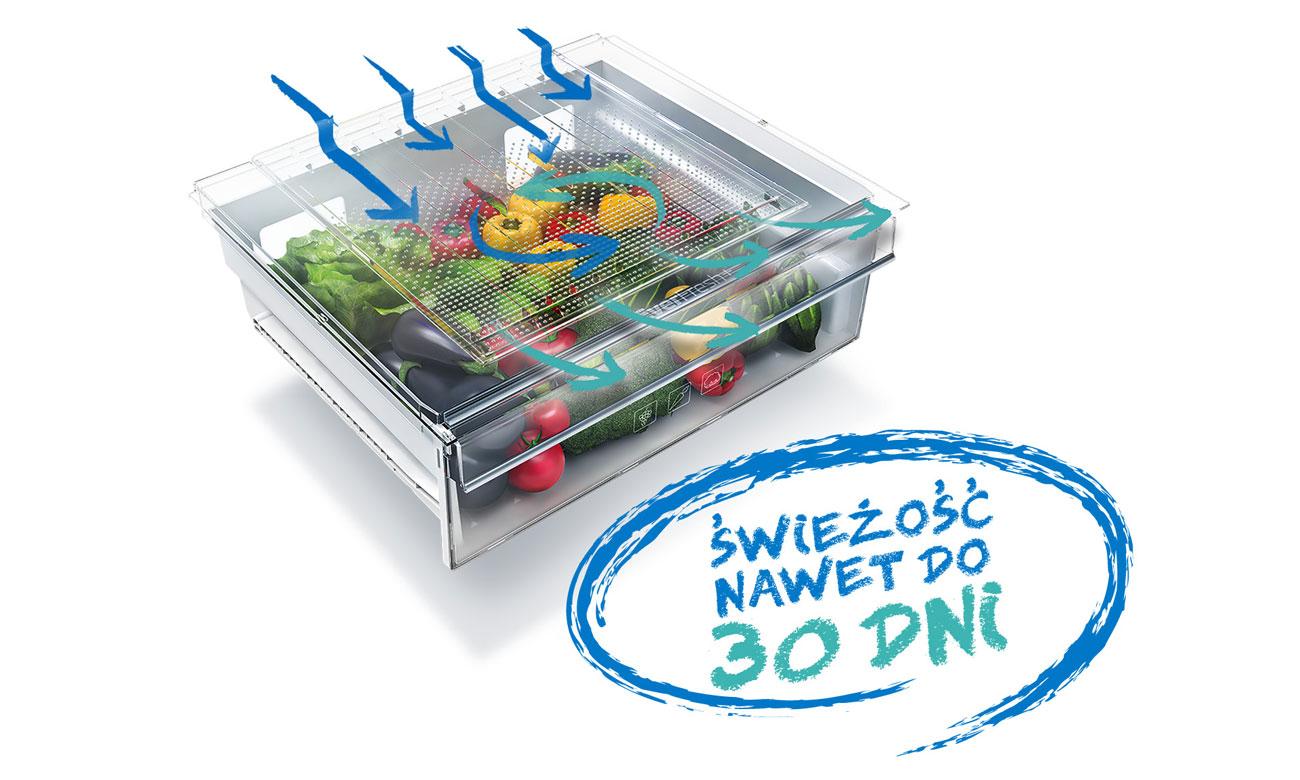 Świeże warzywa, dzięki technologii Everfresh+ w lodówce Beko RCNA365K20ZX