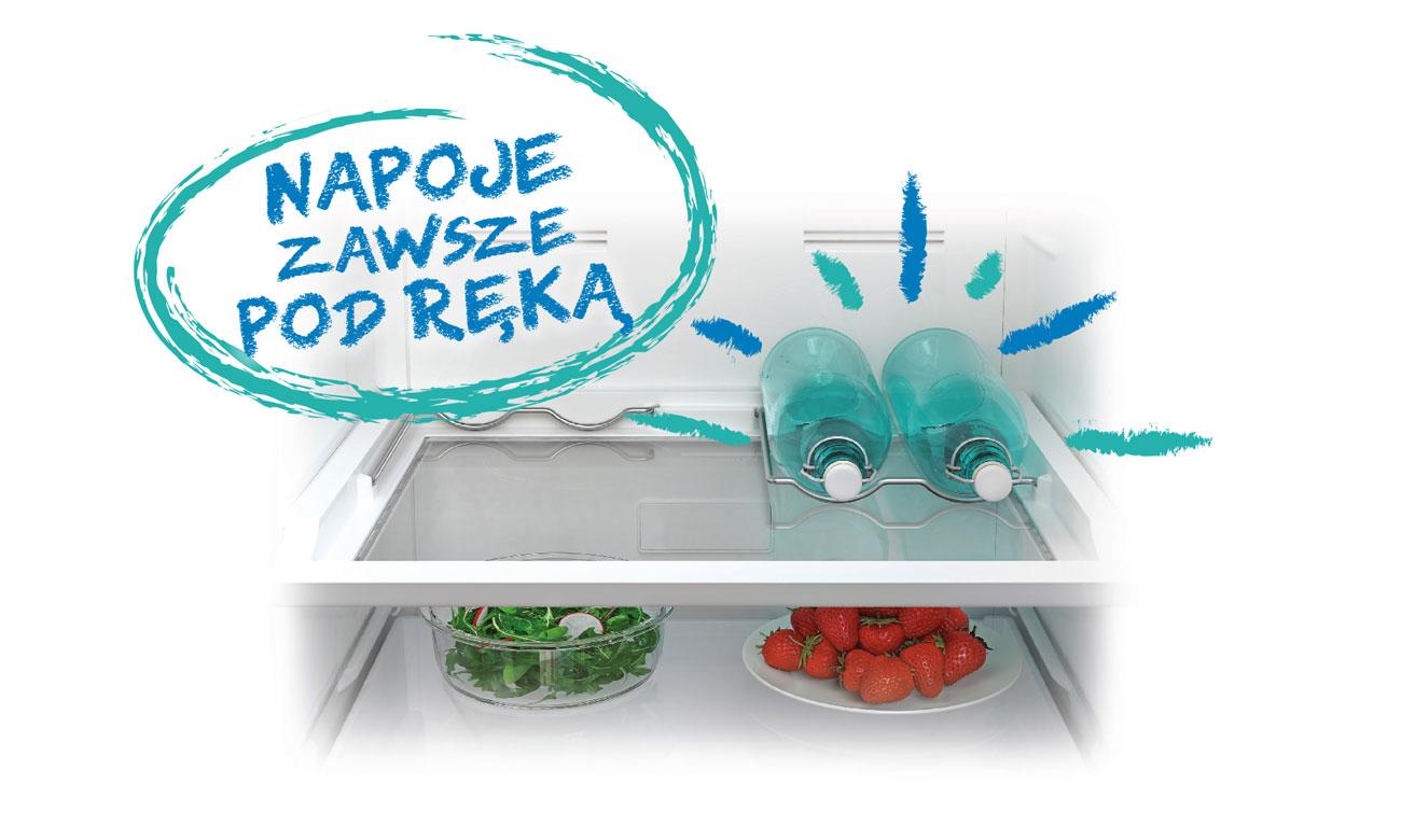 Uchwyt na butelki w lodówce Beko RCSA270M21W