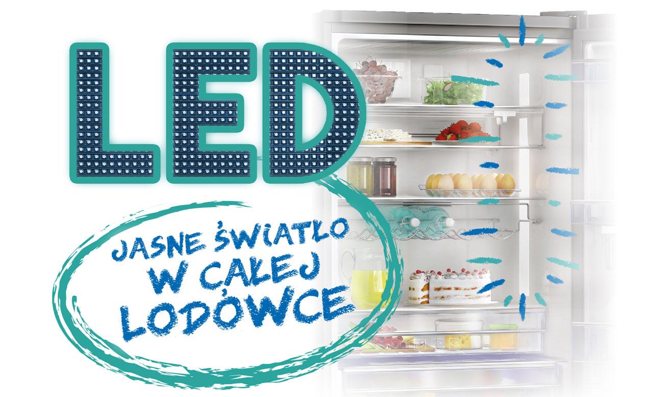 Oświetlenie LED w lodówce Beko RCSA300K21W