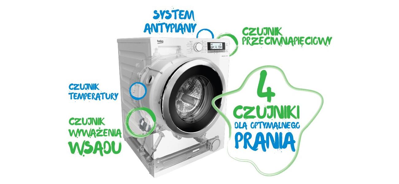 pranie w pralce Beko WKB 51032 PL PTY